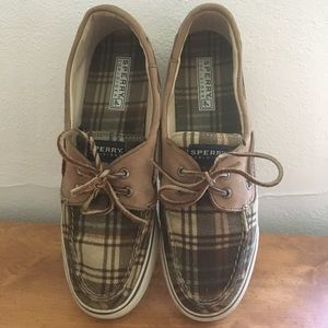 Plaid Sperry Topsider size 10